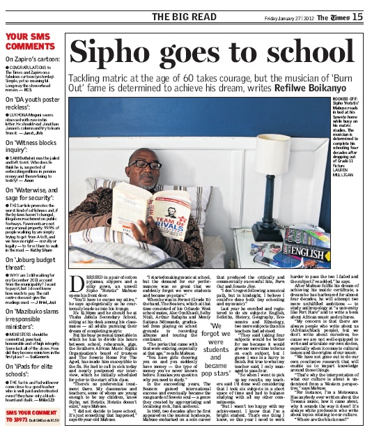 Sipho goes to school
