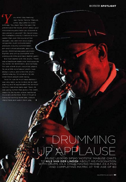 Drumming Up Applause - Southern Sun Magazine, February / March 2012