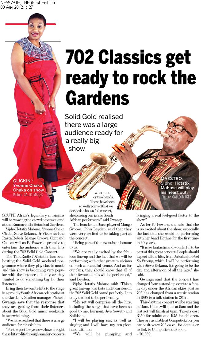 702 Classics Get Ready To Rock The Gardens | New Age