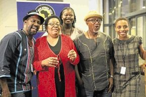 PROUD: Ringo Madlingozi, Sibongile Khumalo, Siphokazi Mohapi, Sipho Mabuse and Ayanda Nhlangothi are some of the artists to perform at the Africa Cup of Nations at the National Stadium in Soweto, Johannesburg. PHOTO MOHAU MOFOKENG