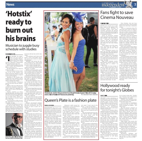 Hotstix in Sunday Independent