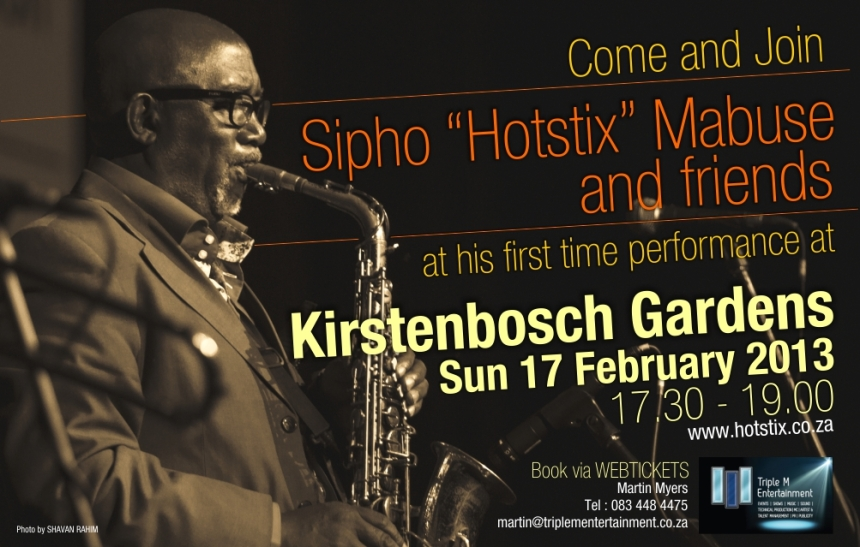 "Sipho ""Hotstix"" Mabuse and Friends at Kirstenbosch Gardens, 17 February 2013"