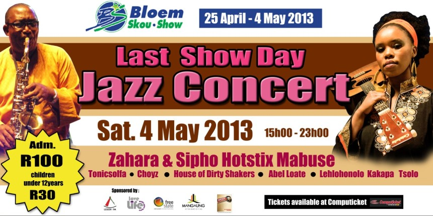 Sipho Hotstix Mabuse at Bloem Show 4 May 2013
