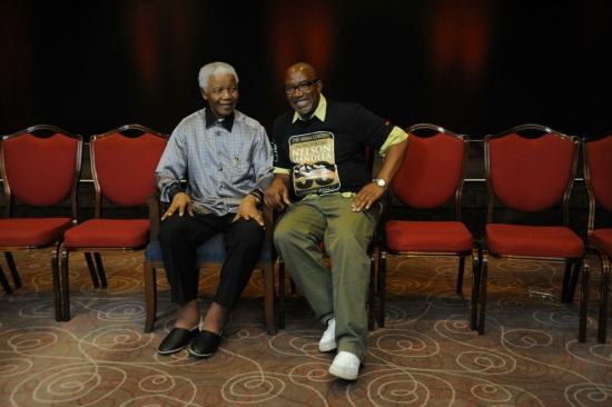 Nelson Mandela and Sipho Mabuse