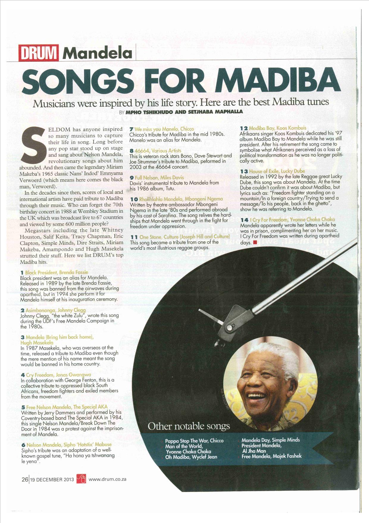 Madiba | Triple M Entertainment