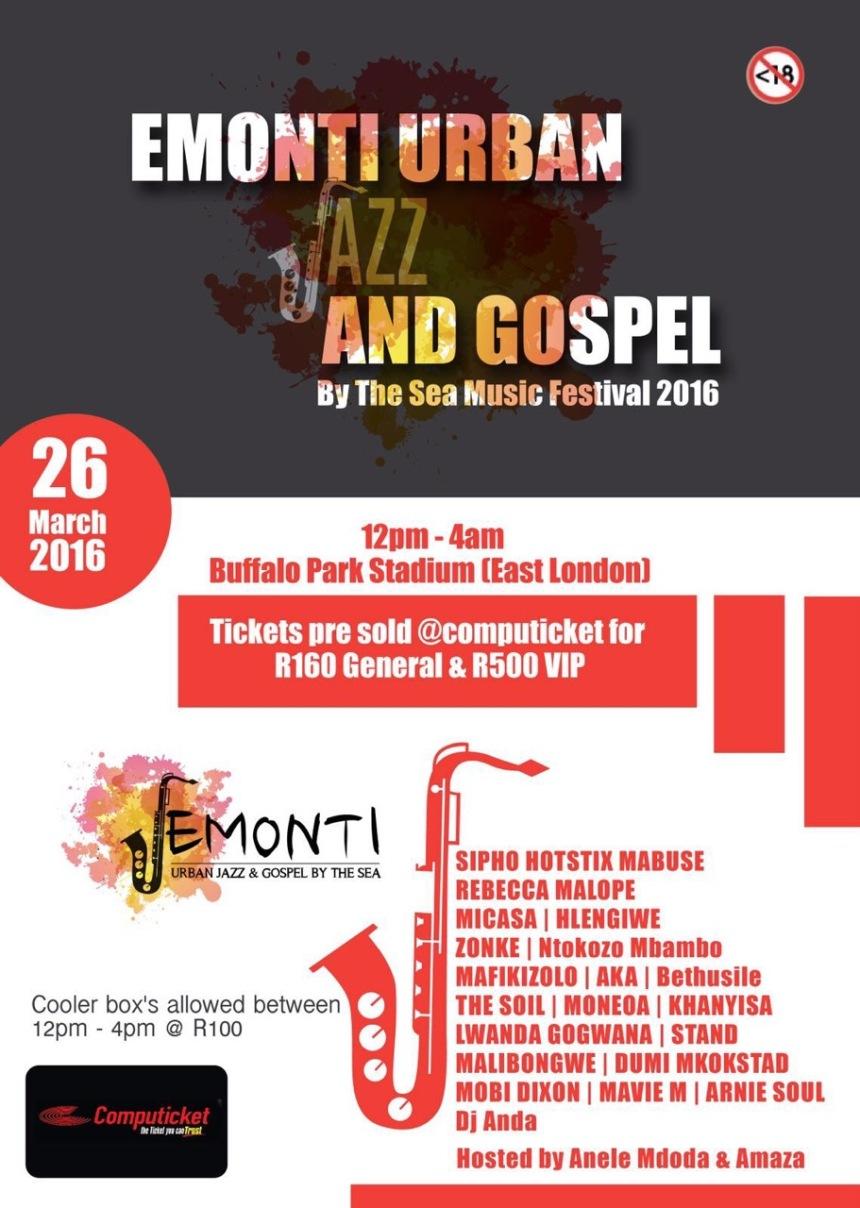 Emonti Urban Jazz and Gospel 26 March 2016