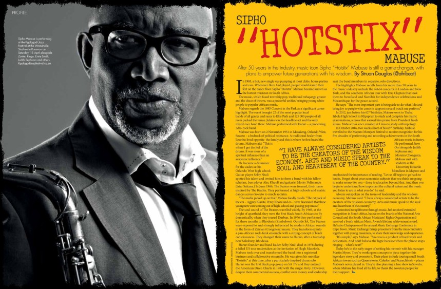 "Sipho ""Hotstix"" Mabuse by Struan Douglas (@Afribeat)"