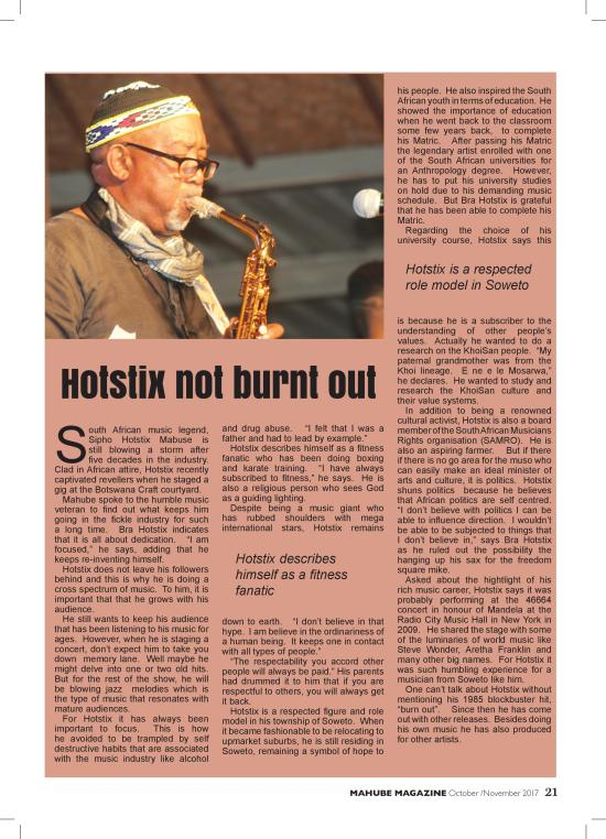 Hotstix Not Burnt Out